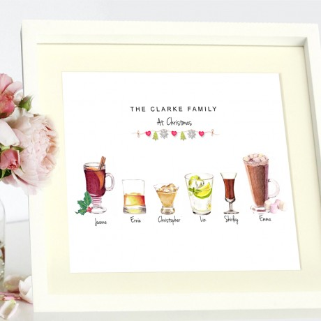 Family Christmas Drinks Print
