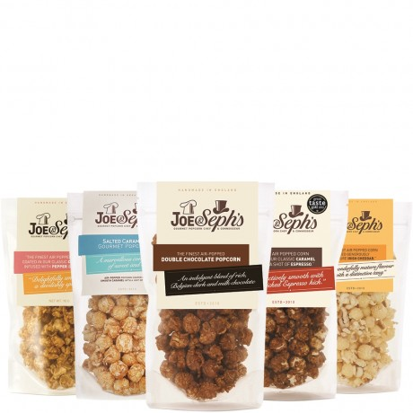 Sweet and Savoury Gourmet Popcorn Selection