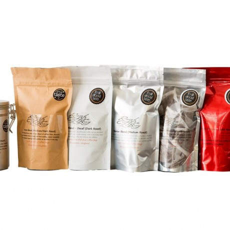 Group of Coffee Bag Pouches