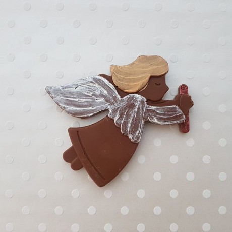 Hand Painted Christmas Chocolate Bar Selection (Pudding, Reindeer, Penguin & Angel)