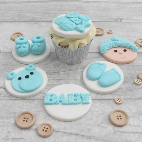 Baby Boy/Girl Edible Cupcake Toppers
