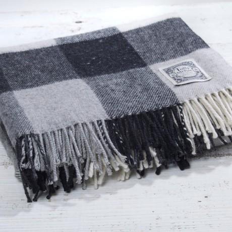 Black & White Checked Picnic Rug