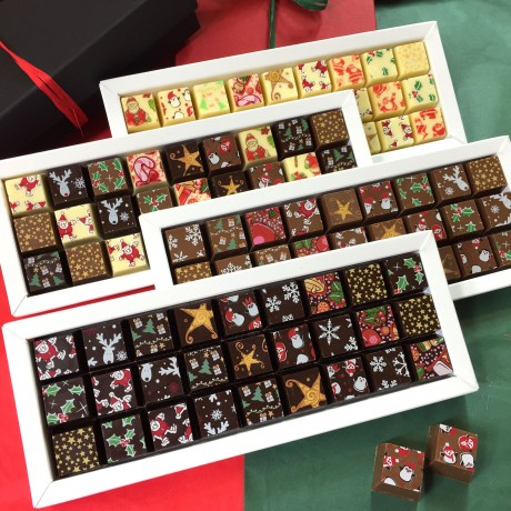 Christmas Mosaic Chocolates in Milk, Dark & White Chocolate