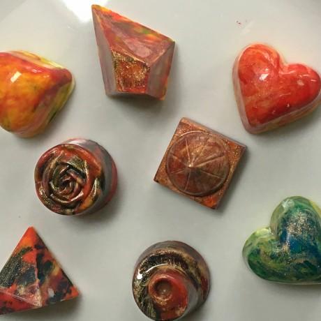 Murano glass effect chocolates
