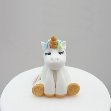 Pastel Unicorn on Cake