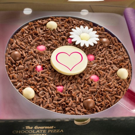 Close up of Flower Chocolate Pizza