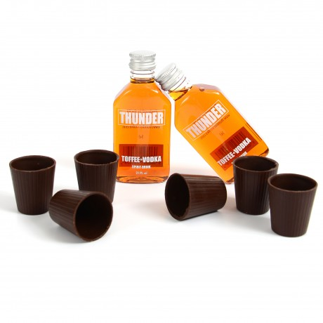 Chocoshot Chocolate Shot Glasses & Toffee Vodka Gift Pack