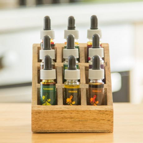 Starter Spice Drops Selection with Wooden Spice Rack