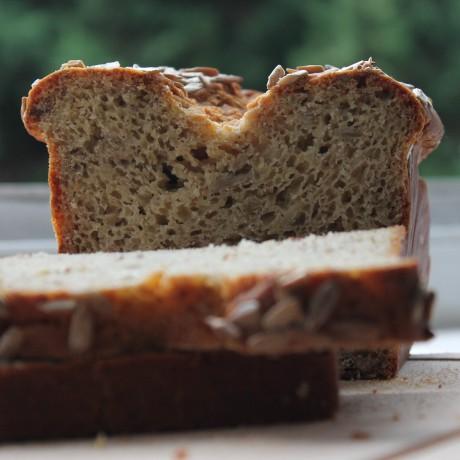 Gluten-free vegan sunflower bread