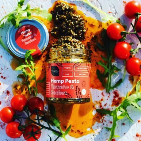 Vegan Hemp Pesto - Sun-dried Tomato & Rocket (2 Pack)