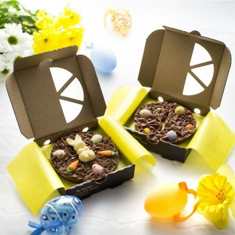 Pack of two Easter Bunny and Easter Egg Mini Chocolate Pizzas