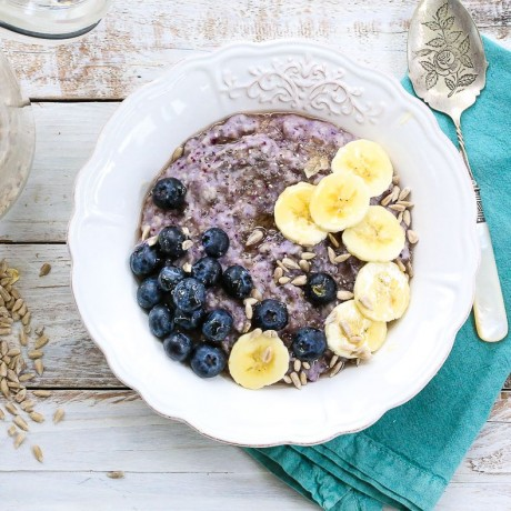 Blueberry & Banana Instant Porridge