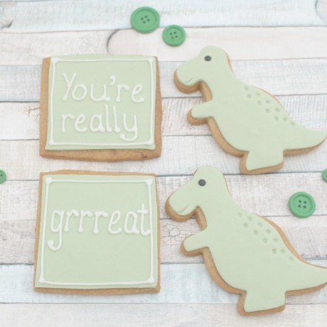 You're Great Dinosaur Valentine's / Anniversary Cookie Set