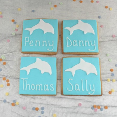 Personalised Dolphin Themed Cookie Favours
