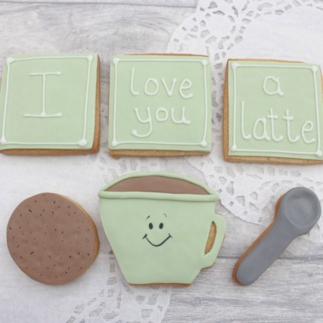 Love You A Latte Valentine's / Anniversary Cookie Set