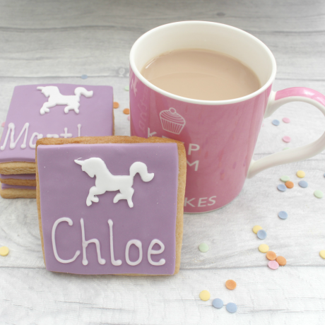 Unicorn Personalised Cookie Favours