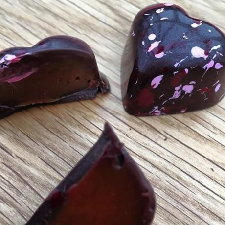 Dark Chocolate Salted Caramel Hearts