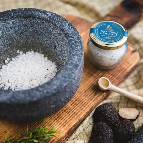 Flaked Black Truffle Sea Salt