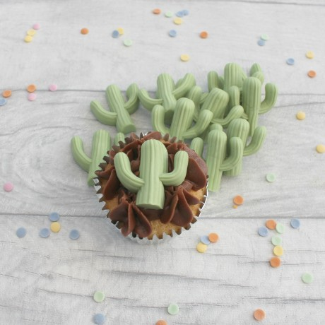 Cacti cupcake toppers