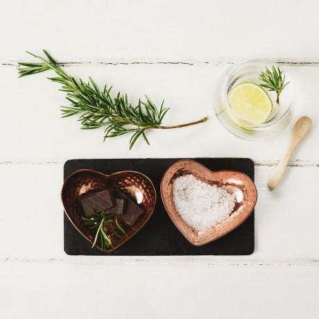 Copper Heart Dishes Presentation