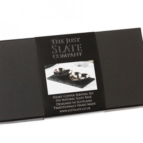 Copper Heart Stylish Black Gift Box