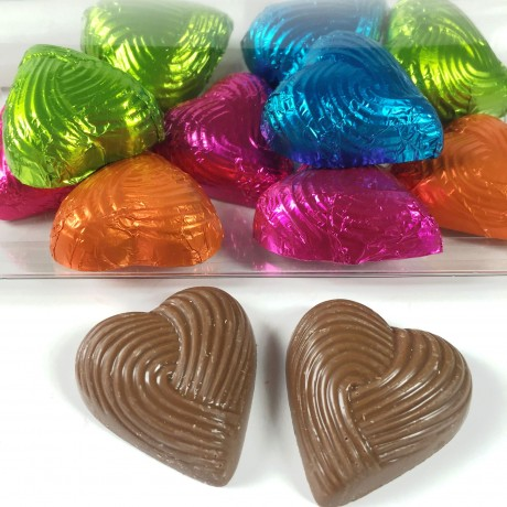 cocoapod foiled chocolate hearts