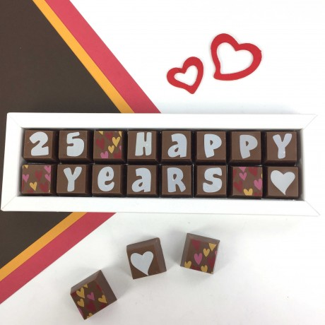 Personalised Anniversary Chocolates