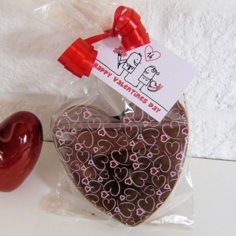 Small Dark Chocolate Hearts With Hearts And Kisses