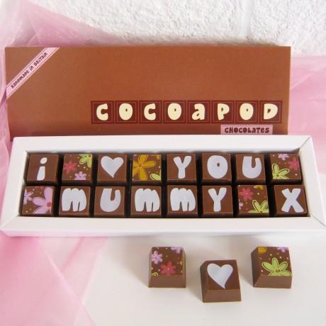 Personalised Chocolates For Mum, Mom Or Maman
