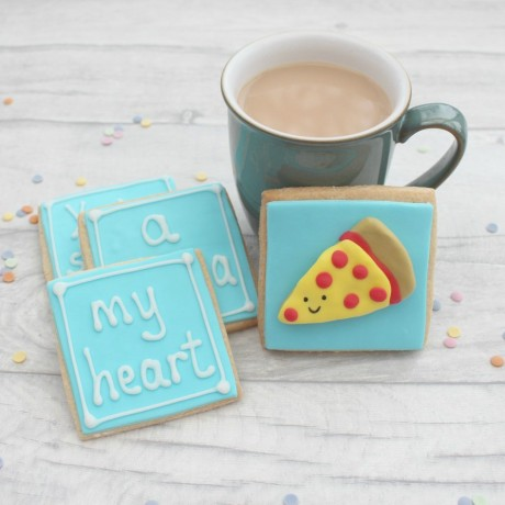 You've Stolen a Pizza My Heart Valentine's Cookie Gift