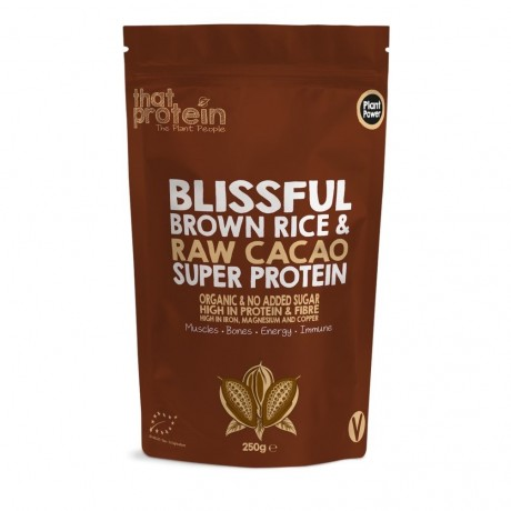 Blissful Brown Rice and Raw Cacao Super Protein Powder