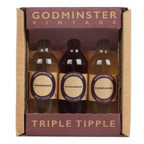 Triple Tipple (Elderflower, Blackcurrant and Horseradish Vodka Spirit Gift Pack)