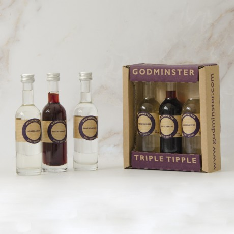 Triple Tipple gift set including three 5cl bottles of our hand-infused Vodka Spirits