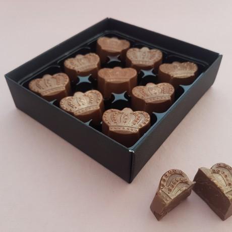 Salted Caramel Milk Chocolate Truffle Crowns