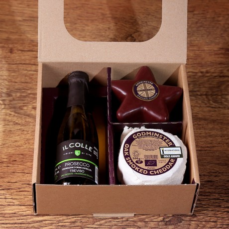 Prosecco & Cheese star in gift box