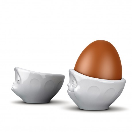 Side view of Kissing and Dreamy Egg Cups