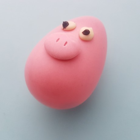 Piggy Egg Head Chocolate Easter Character