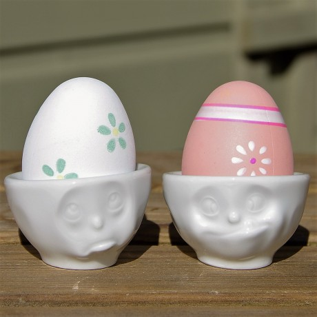 Egg Cups with egg for easter