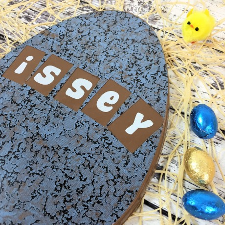 Large Personalised Milk Chocolate Easter Egg with Granite Design