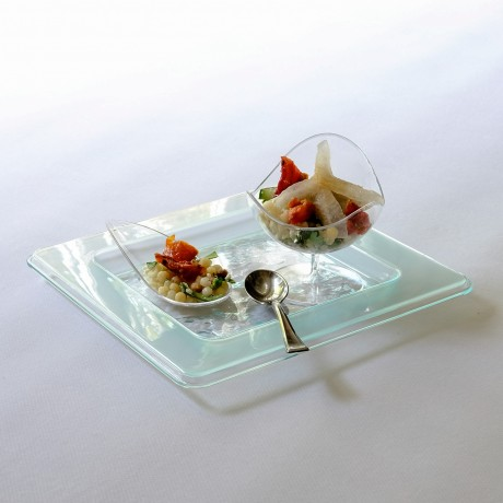 Glass effect party plate