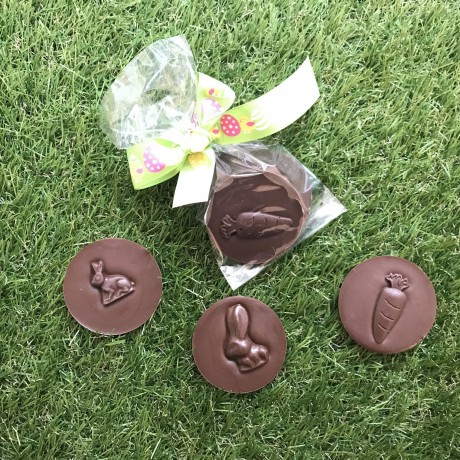 Dairy Free Milk Chocolate Easter Bunny Discs
