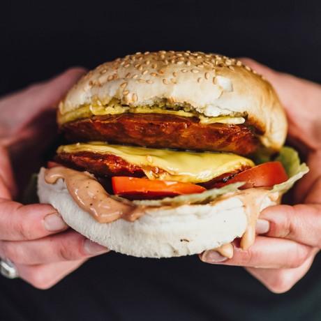 Plant based vegan burger