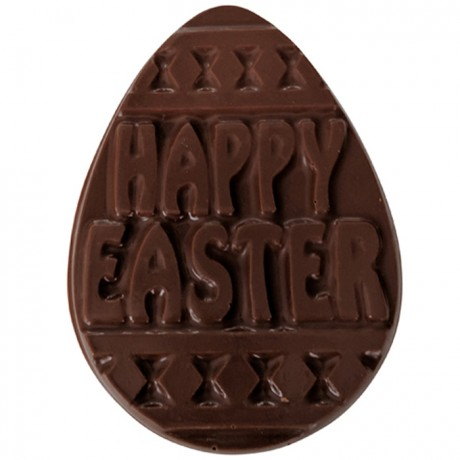 Flat Milk Chocolate Easter Egg with White Moustache