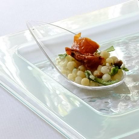 Glass Effect Rectangular Serving Platter