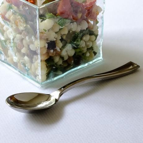 Silver Miniature Tasting Spoons: Pack of 100
