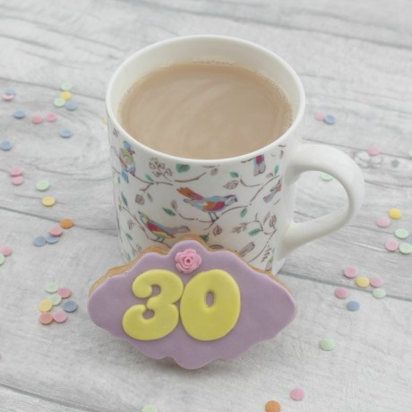 Milestone Birthday Plaque Cookies