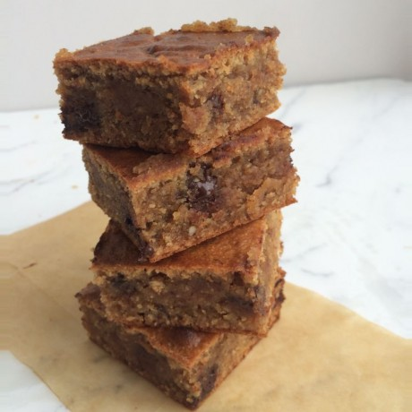 Almond Blondies with Himalayan Salt (Dairy, Gluten & Refined Sugar Free)