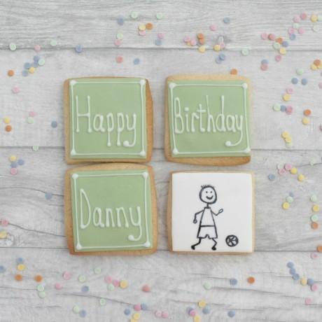 Personalised Footballer Birthday Cookies
