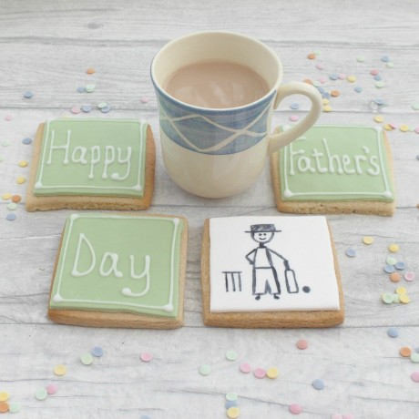 Happy Father's Day Cricket Cookies