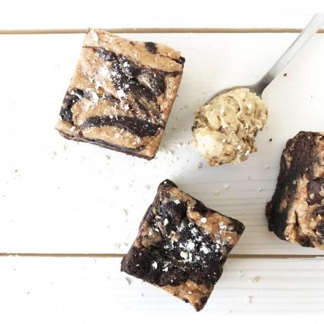 vegan-peanutbutter-brownie
